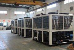 风冷螺杆式冷水机生产车间